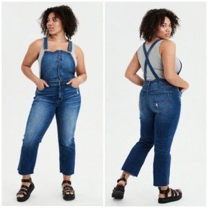 American Eagle Hi Rise Crop Flare Overall Size 00